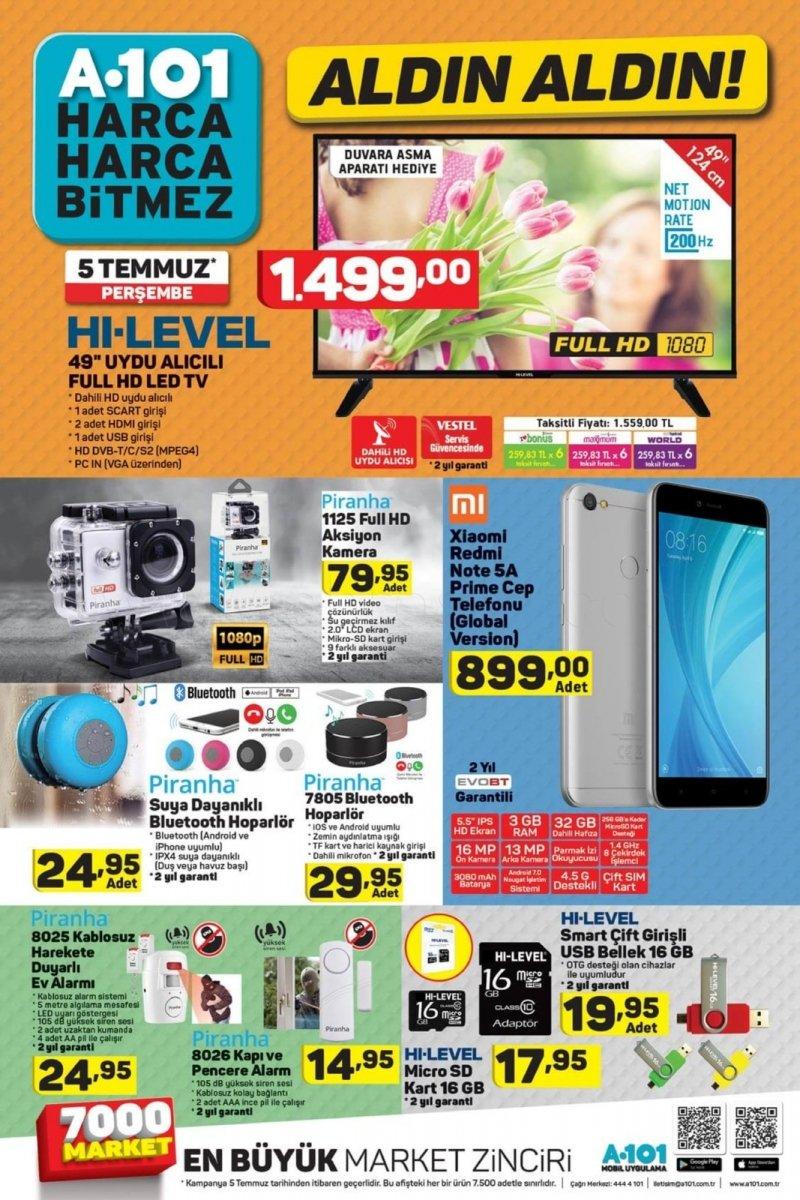 5 Temmuz A101 Aktüel 2018 - Sayfa 1