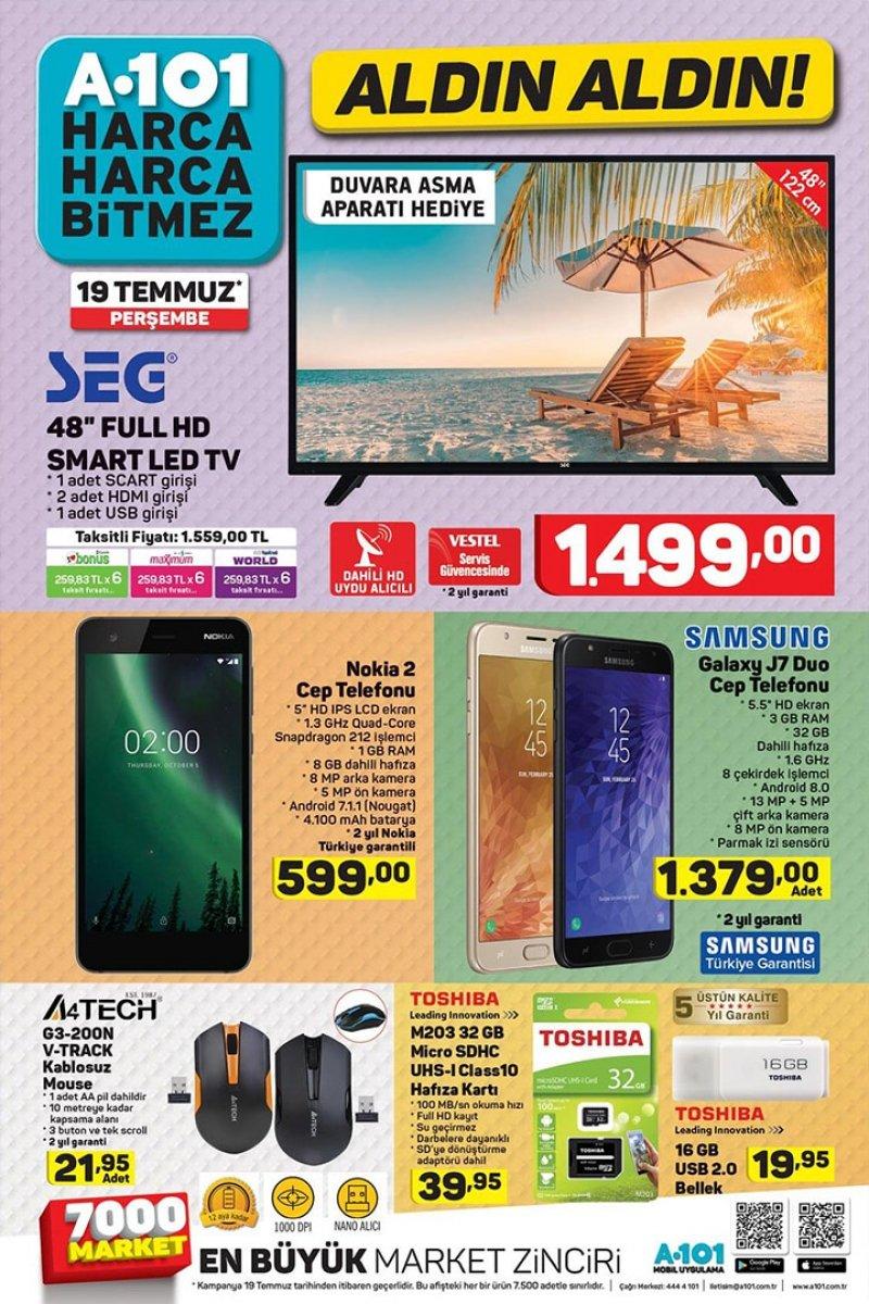 19 Temmuz A101 Aktüel 2018 - Sayfa 1